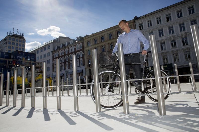 Nu kan du plante din cykel på Nørreport