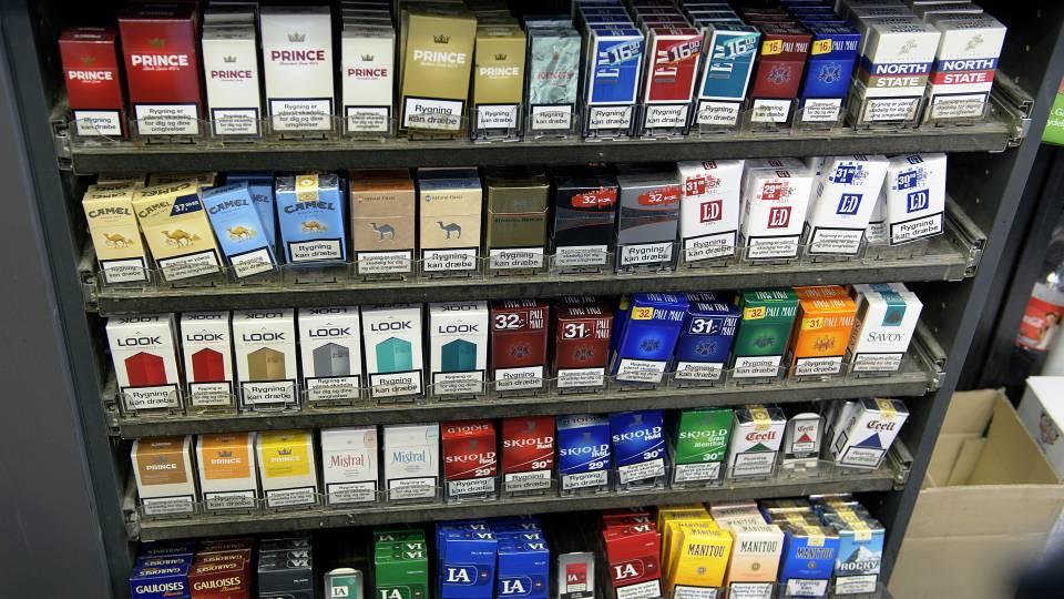 Cigaretsalget falder i Danmark