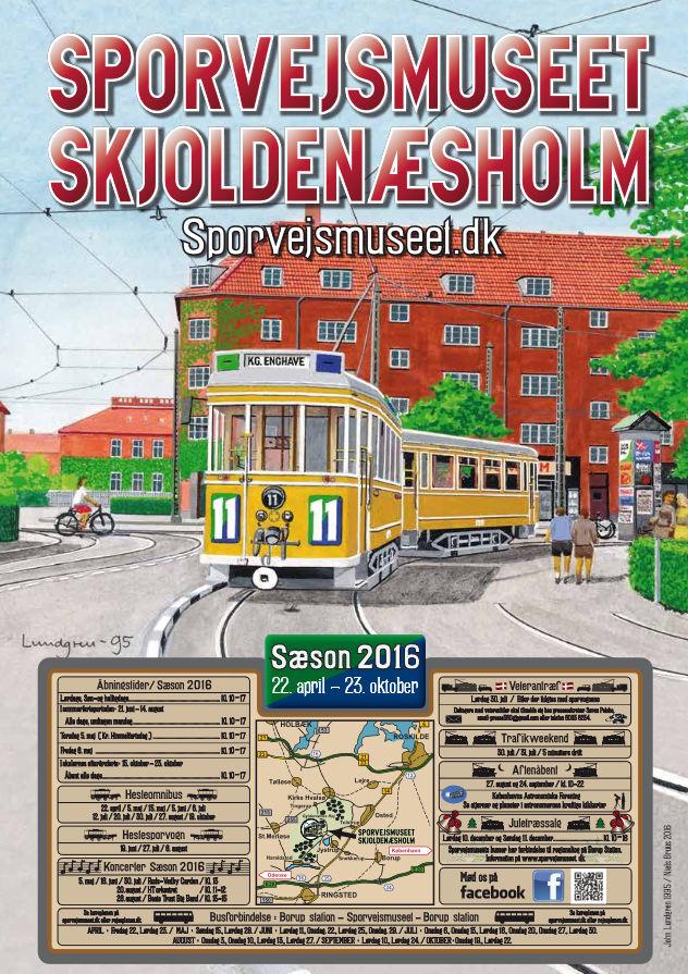 Sporvejsmuseets plakat 2016