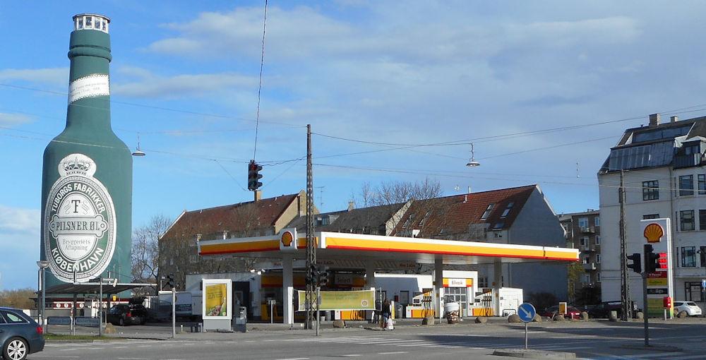 Shell Strandvejen i Hellerup. Stationen er IKKE en af dem DCC Energi overtager, da denne station bliver til en Circle K-station.