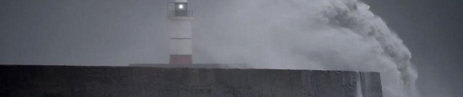 Stormen Knud rammer Danmark