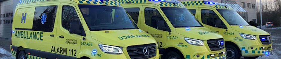 Tre nye ambulancer er udstyret med ny teknologi