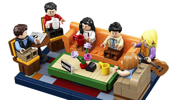 Tv-serien 'Venner' bliver genskabt i Lego-klodser