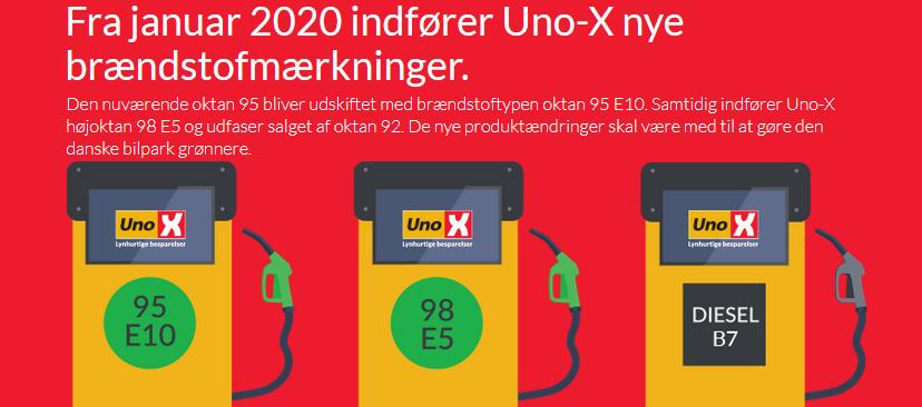 Uno-X og Bonus skifter 92 oktan ud med 98 oktan