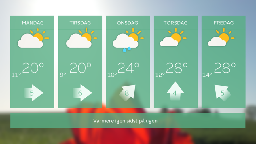 Varmere vejr på vej...