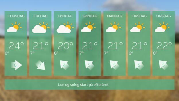 Det gode vejr fortsætter...